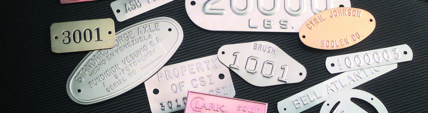 Various Metal Tags Banner Image