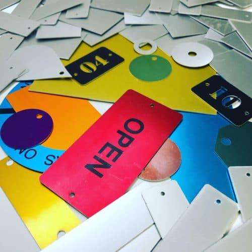 Color Metal Tags