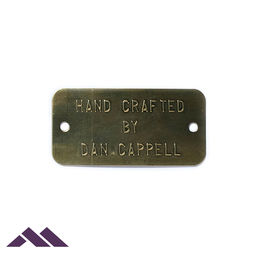 custom metal id tags for asset cable inventory property wire