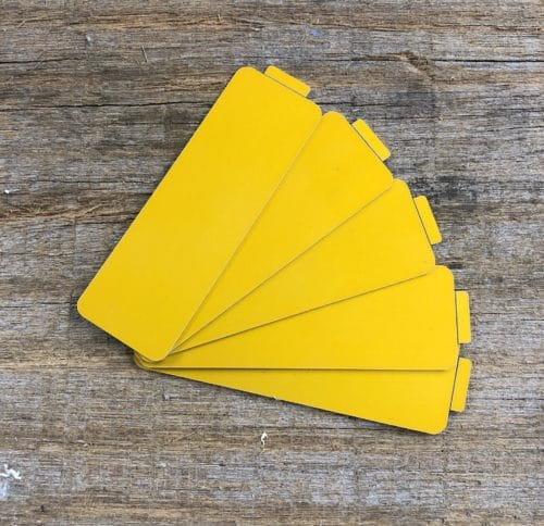Yellow QuickPull Tags