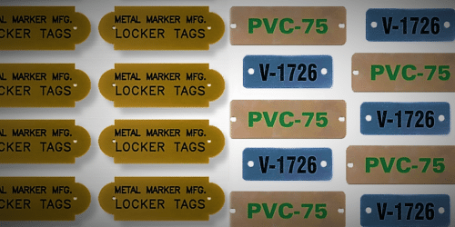 Engraved and Etched Tags Side by Side Comparison