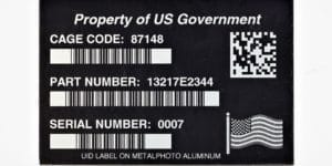 UID IUID Mil Std 130 Example Tag Property of US Government