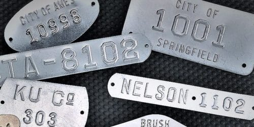Cold Rolled Steel Embossed Tags