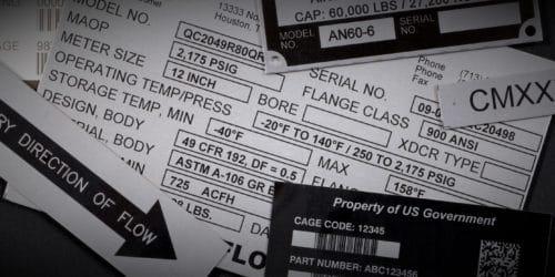 Elevator Code Data Plates